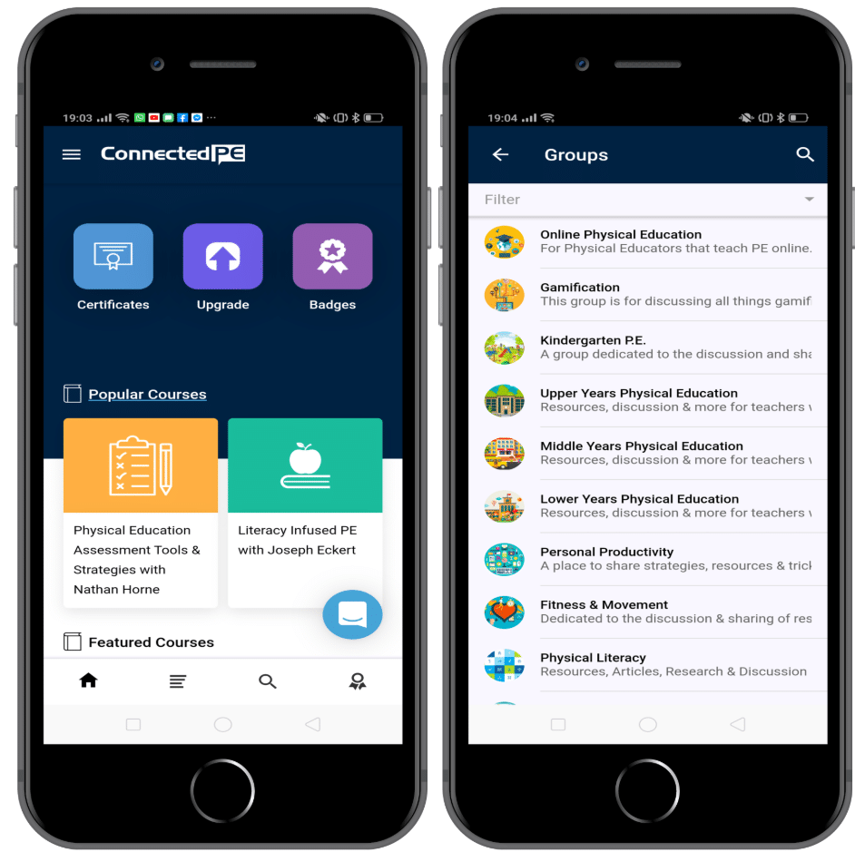 a screenshot of the connected PE app - built with AppPresser