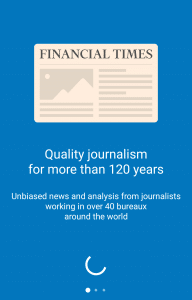 financial times app launch screen