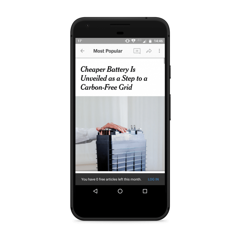 New York Times Mobile Paywall