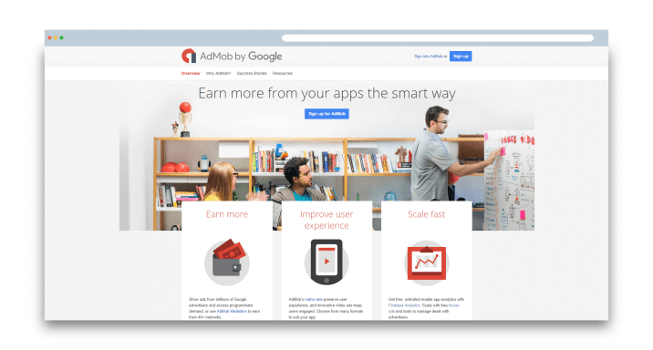 Admob for mobile app monetization