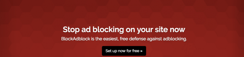 Anti adblock - BlockAdblock plugin