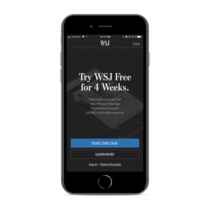 Wall Street Journal Paywall Strategy