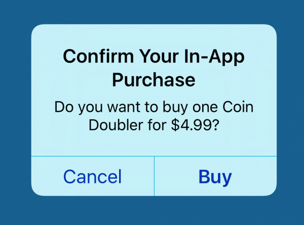 iOS in-app purchase screen