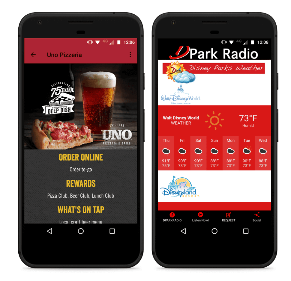 Appy Pie resturant app and radio app
