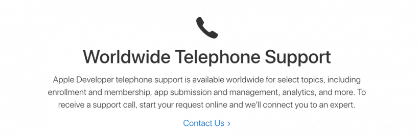 Apple Telephone Support
