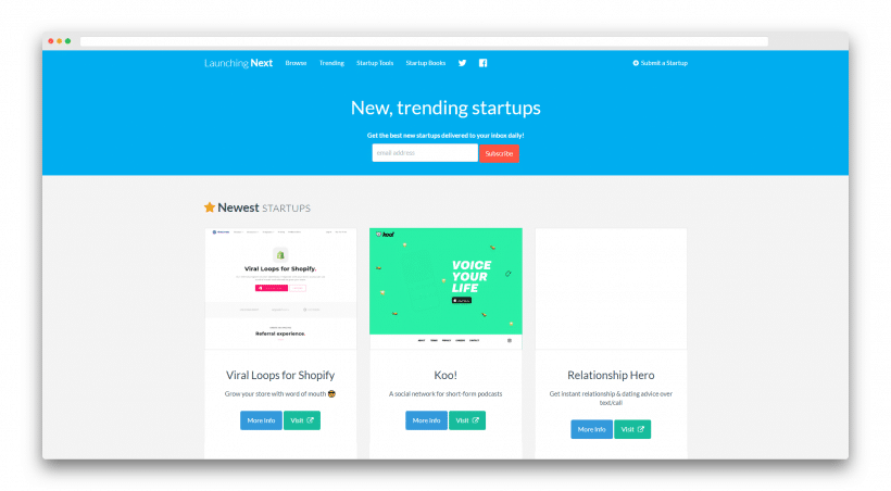 Launch your app on LaunchingNext