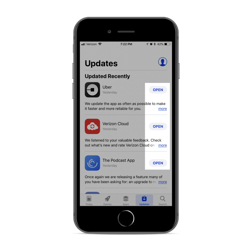 native apps automatically update